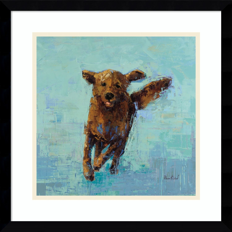 Framed Art Print 'golden Dog No (View 8 of 15)