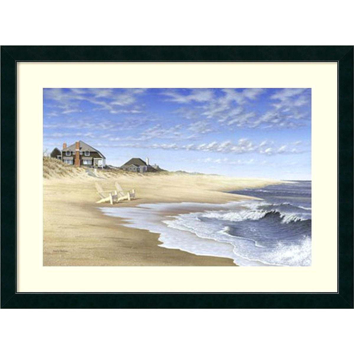 Framed Beach Art Canvas Prints Sale White Wall – Biophilessurf Pertaining To Most Popular Framed Beach Art Prints (Gallery 8 of 15)