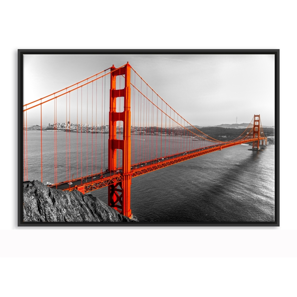 Framed Canvas Wall Art Golden Gate Bridge San Francisco California Intended For Latest Golden Gate Bridge Canvas Wall Art (View 12 of 15)