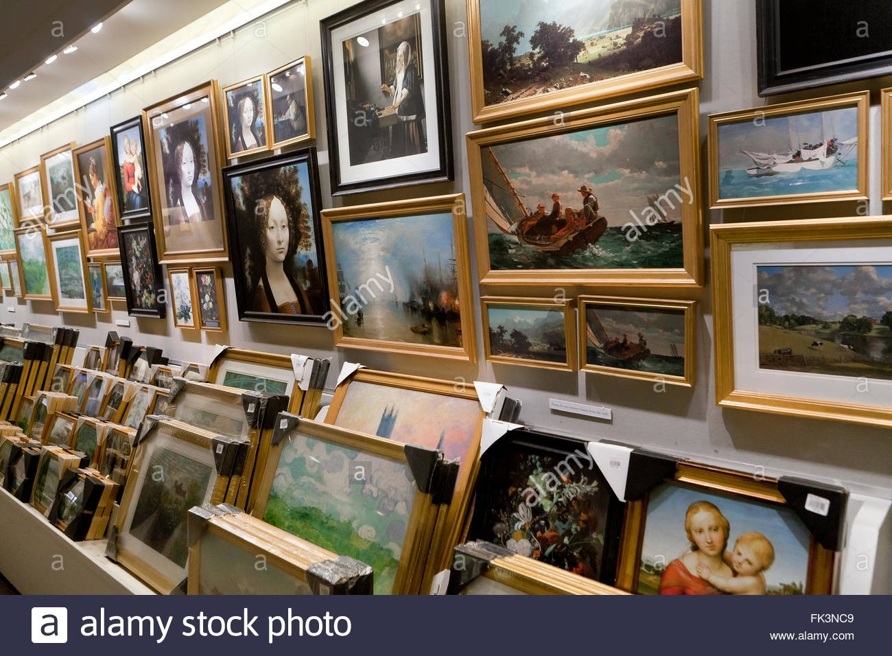 Framed Prints Of Famous Paintings – Usa Stock Photo, Royalty Free Intended For Most Up To Date Famous Art Framed Prints (View 8 of 15)