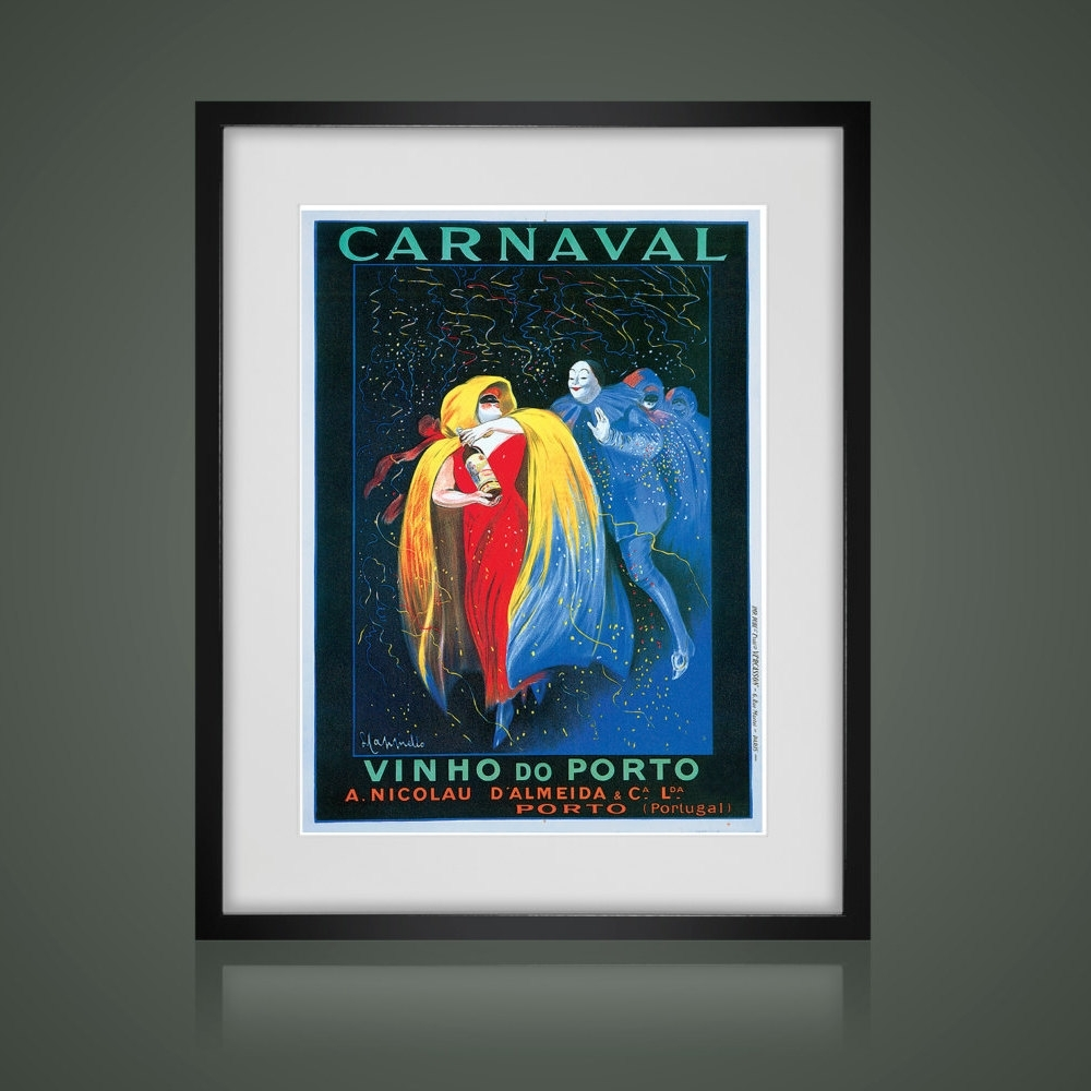 Framed Wall Art, Vintage Advertising Poster, Matted And Framed Art In Current Framed And Matted Art Prints (View 9 of 15)