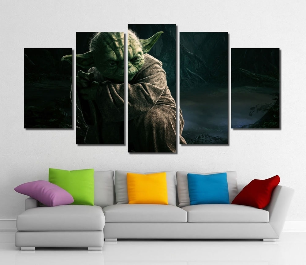 Framed Wall Canvas Art – Star Wars Yoda Jedi Master Canvas Prints Inside Most Up To Date Framed Canvas Art Prints (View 6 of 15)