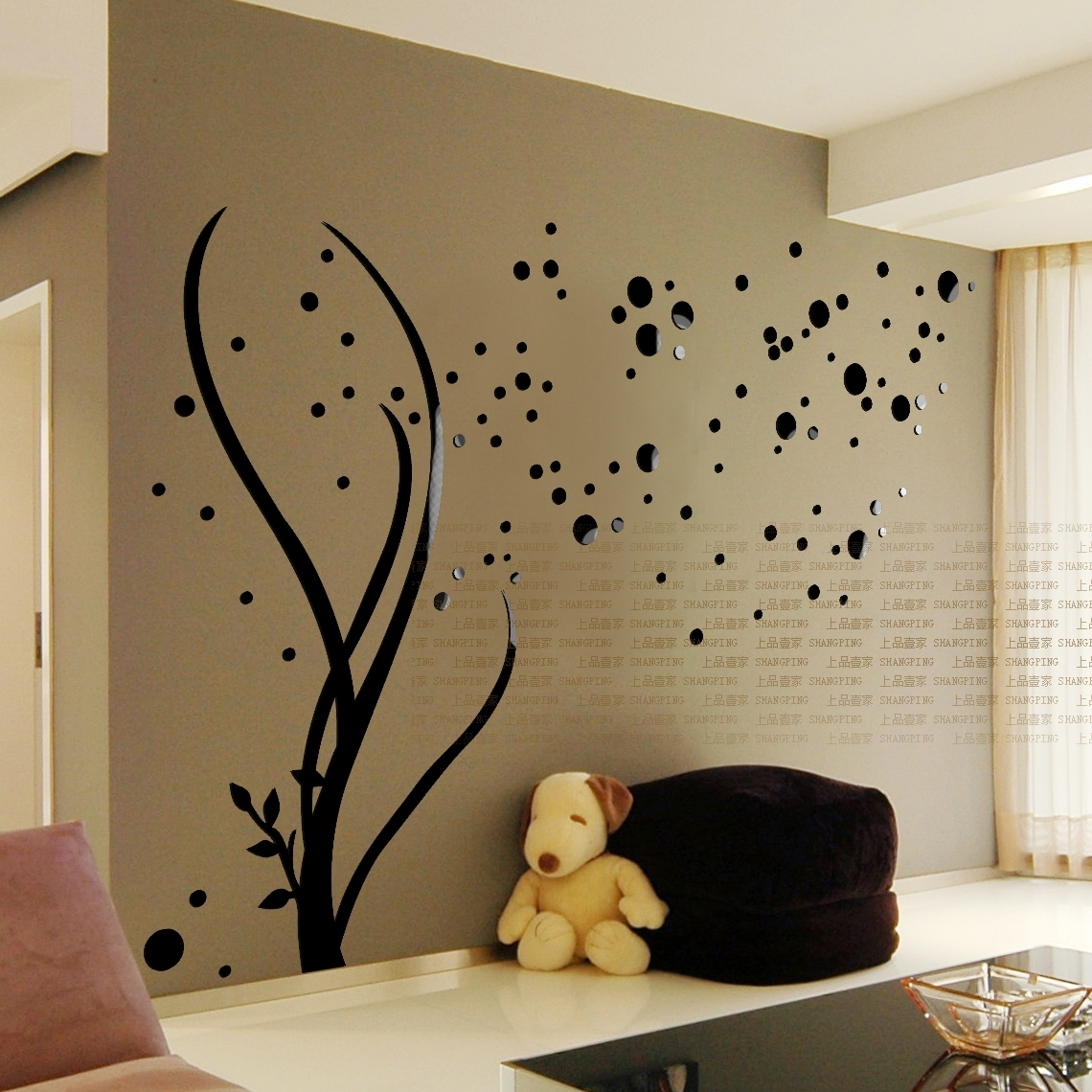 Free Shipping 3D Stars Crystal Three-Dimensional Wall Stickers throughout Most Recently Released Adhesive Art Wall Accents