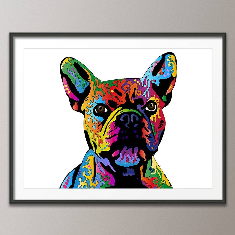 French Bulldog Pop Art Printartpause | Notonthehighstreet Inside Most Recently Released Dog Art Framed Prints (View 9 of 15)