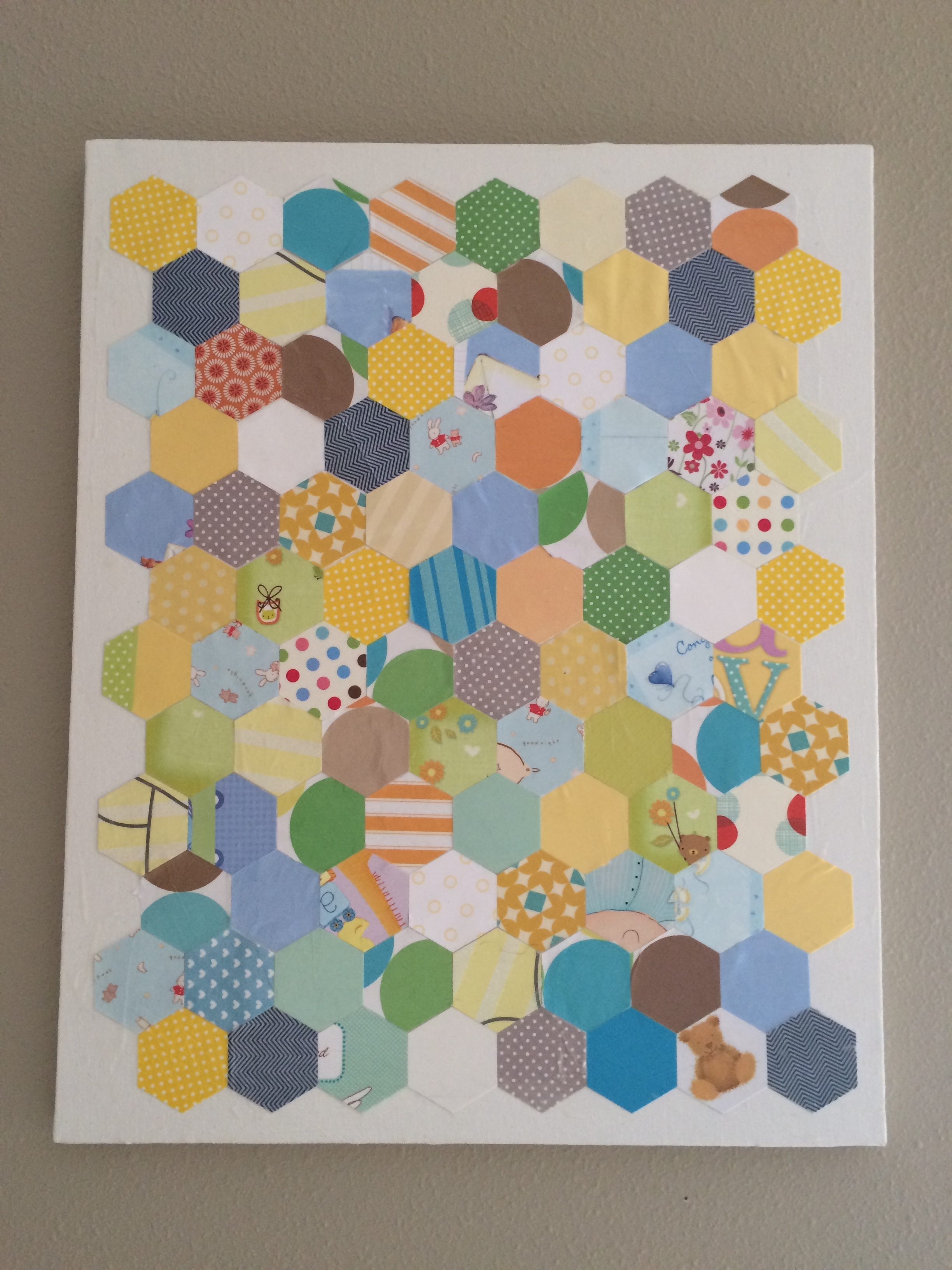 Featured Photo of Fabric Decoupage Wall Art