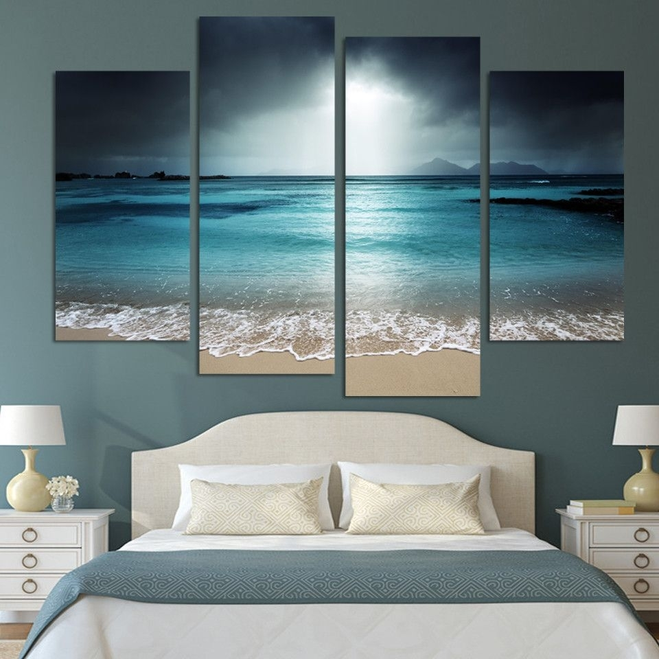 From $79.99 Framed Beautiful Beach Scene Ready To Hang You Can Get in 2018 Ocean Canvas Wall Art
