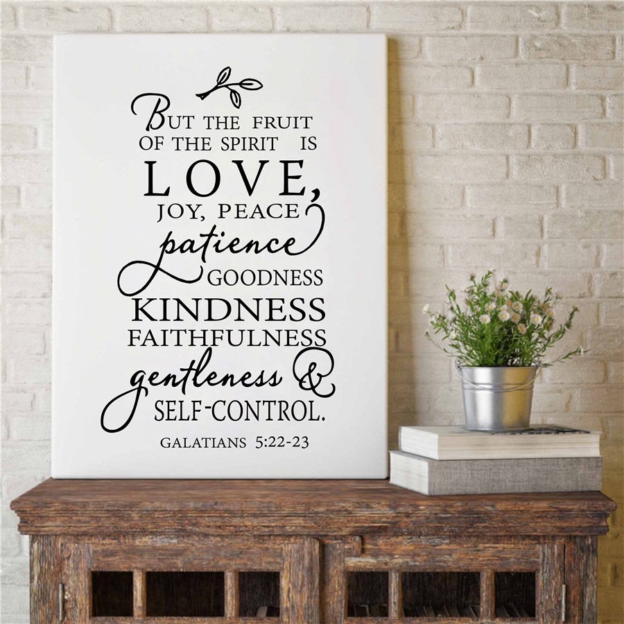 Fruit Of The Spirit Christian Canvas Art Print Poster Wall Picture Inside Most Up To Date Joy Canvas Wall Art (View 7 of 15)