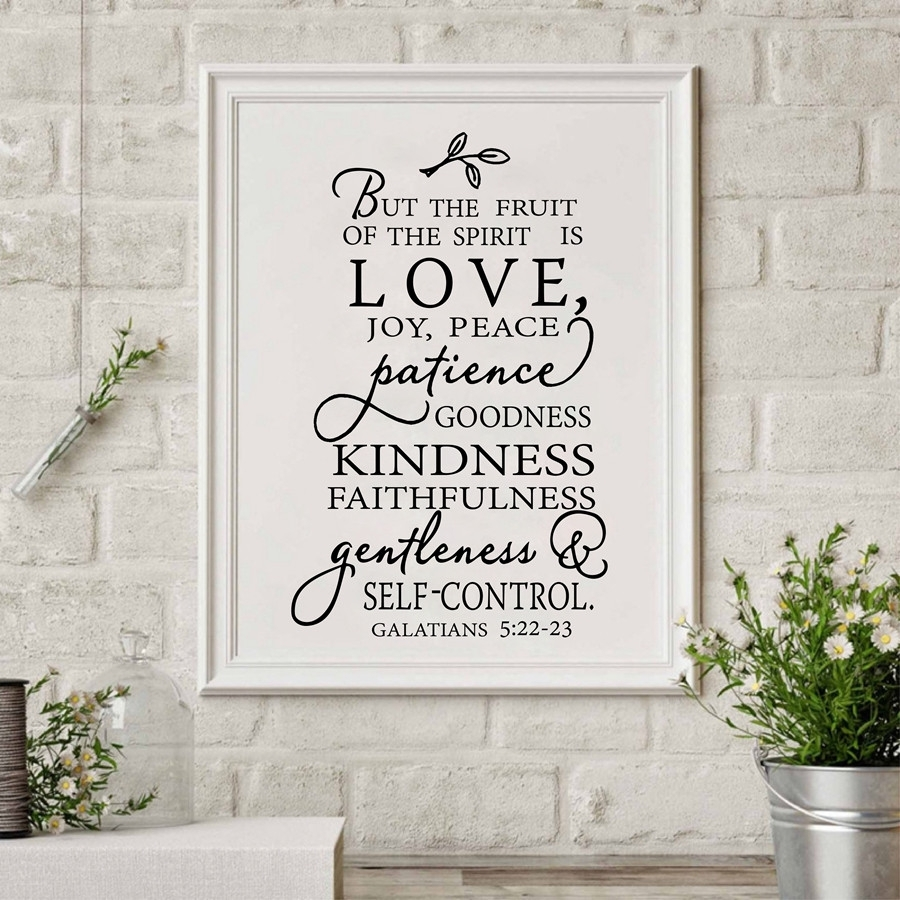 Fruit Of The Spirit Christian Canvas Art Print Poster Wall Picture Regarding 2017 Joy Canvas Wall Art (View 8 of 15)