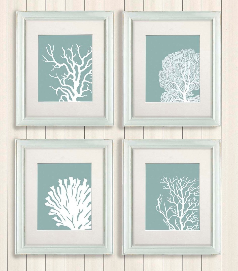 Furniture. Modern Print Art Poster For House Wall Decorations inside Most Recent Framed Coral Art Prints