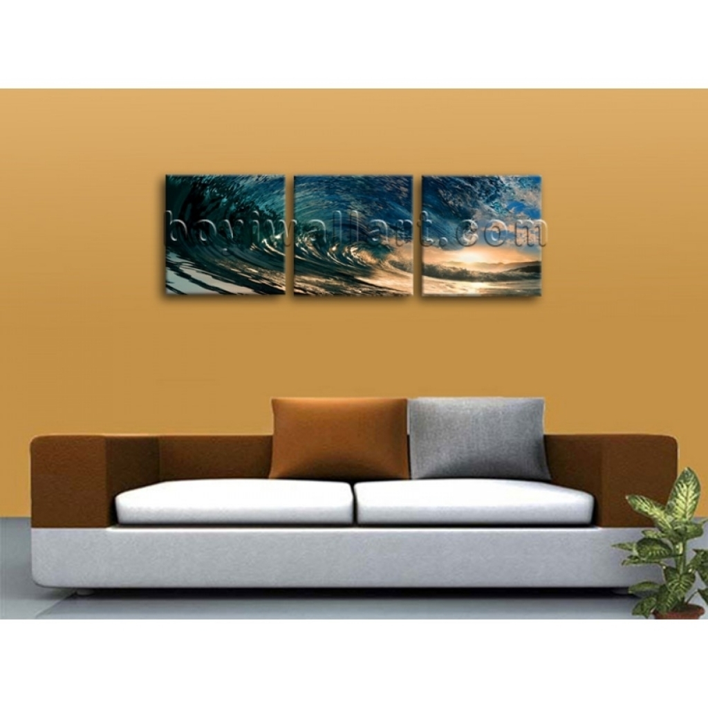 Gallant Big Wall Art Canvas Print Hd Ocean Wave Surf Sunset Large For Current Mississauga Canvas Wall Art (View 10 of 15)