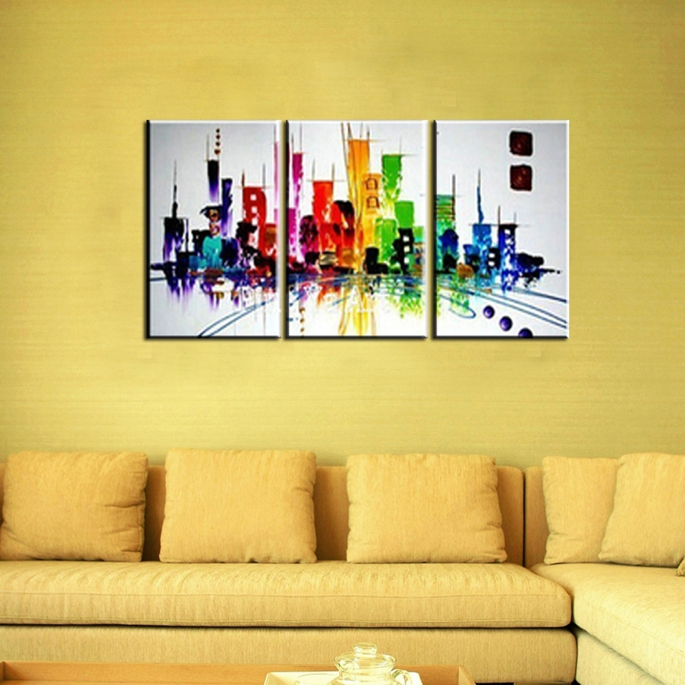 Generous Wall Art City Gallery – The Wall Art Decorations Inside Most Recent Modern Canvas Wall Art (Gallery 15 of 15)