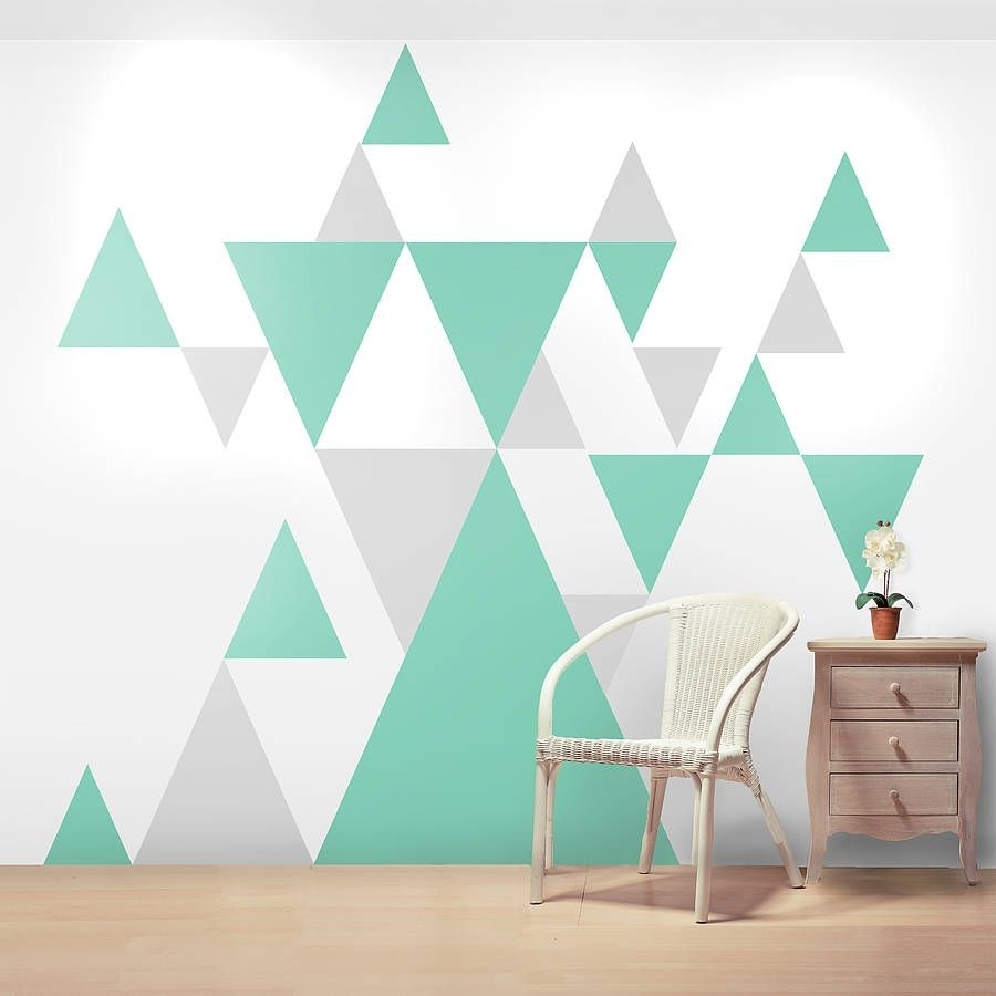 Geometric Pattern Giant Wall Sticker Set | Wall Sticker, Wall With Most Recently Released Geometric Shapes Wall Accents (View 8 of 15)