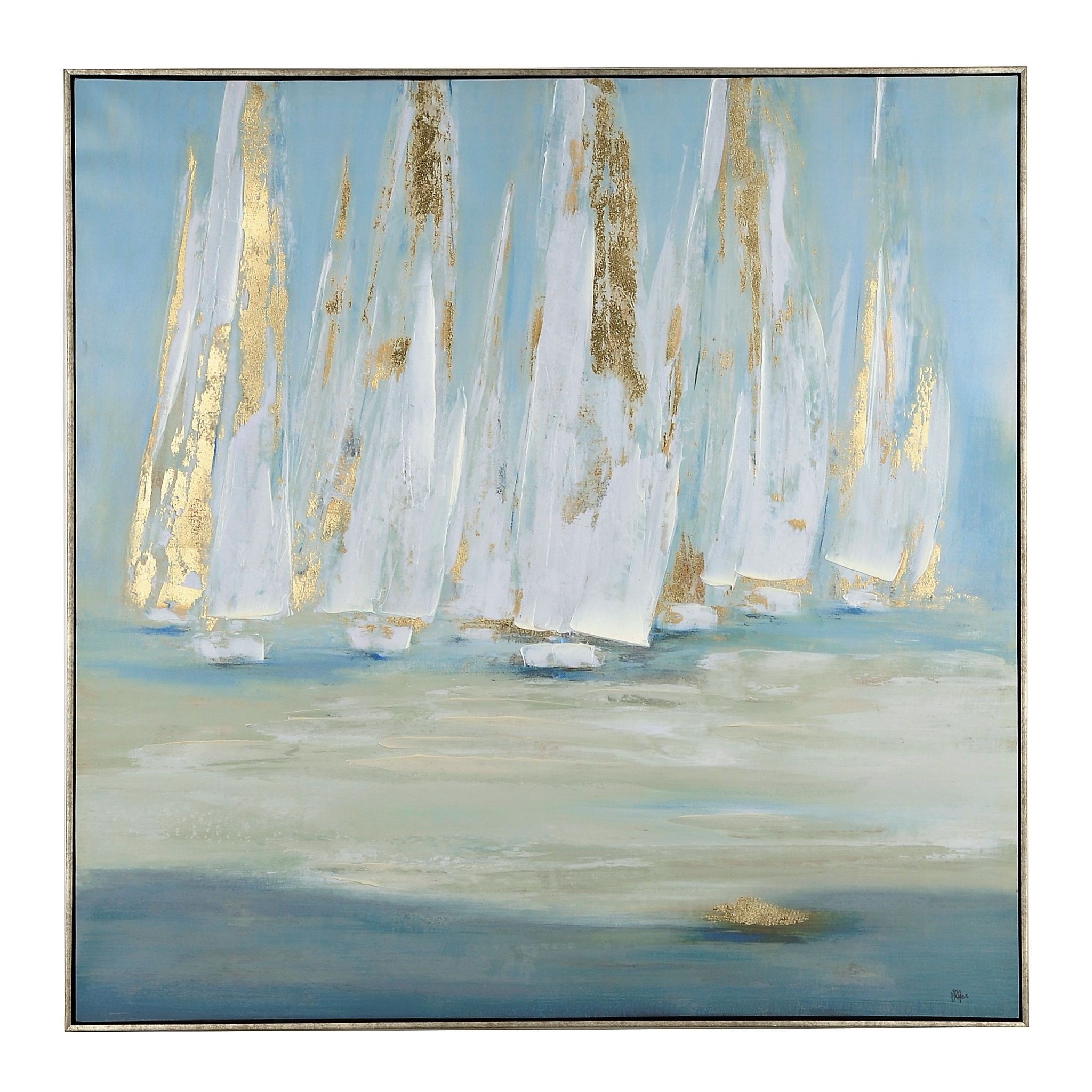 Glimmering Sails Framed Canvas Art Print | Framed Canvas, Canvases With Regard To Best And Newest Gold Coast Framed Art Prints (View 7 of 15)