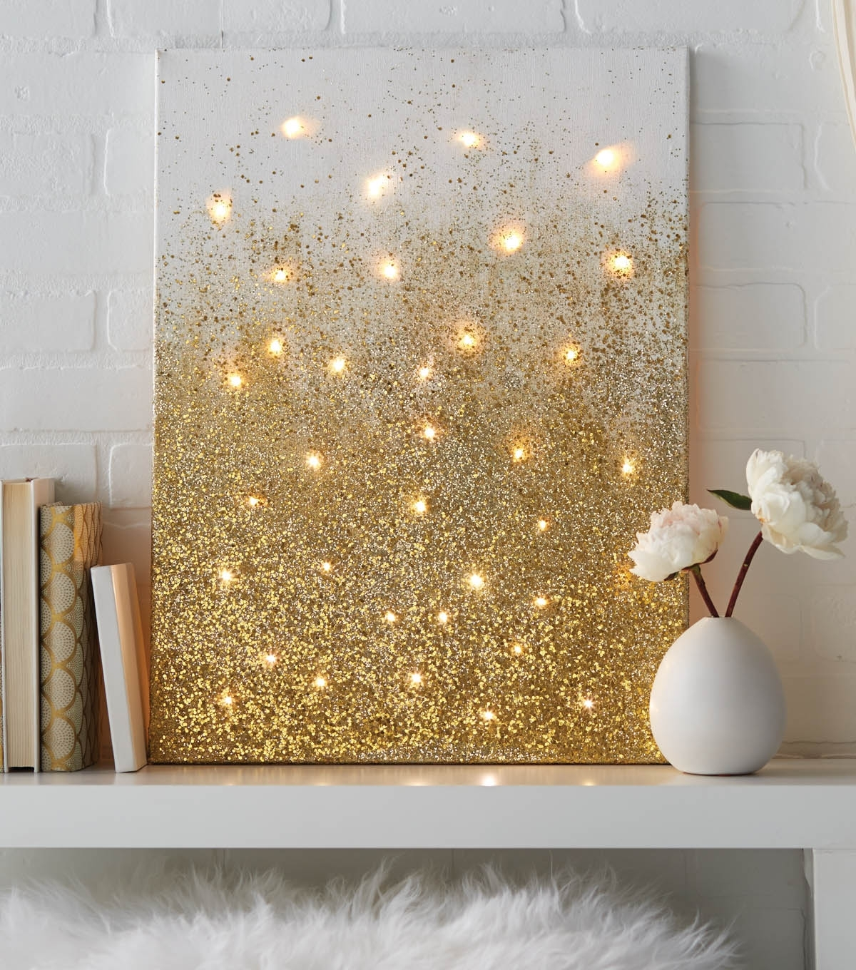Glitter And Lights Canvas | Joann With Regard To 2018 Joann Fabric Wall Art (View 12 of 15)