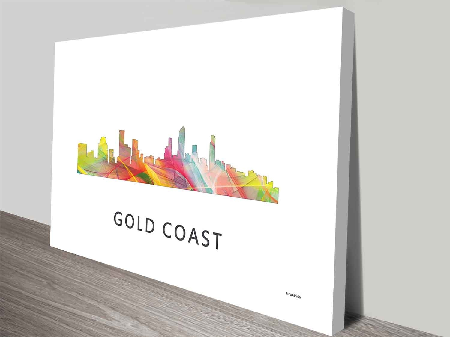 Gold Coast Queensland Skyline Art Print On Canvas Wall Art Intended For Most Current Queensland Canvas Wall Art (View 9 of 15)
