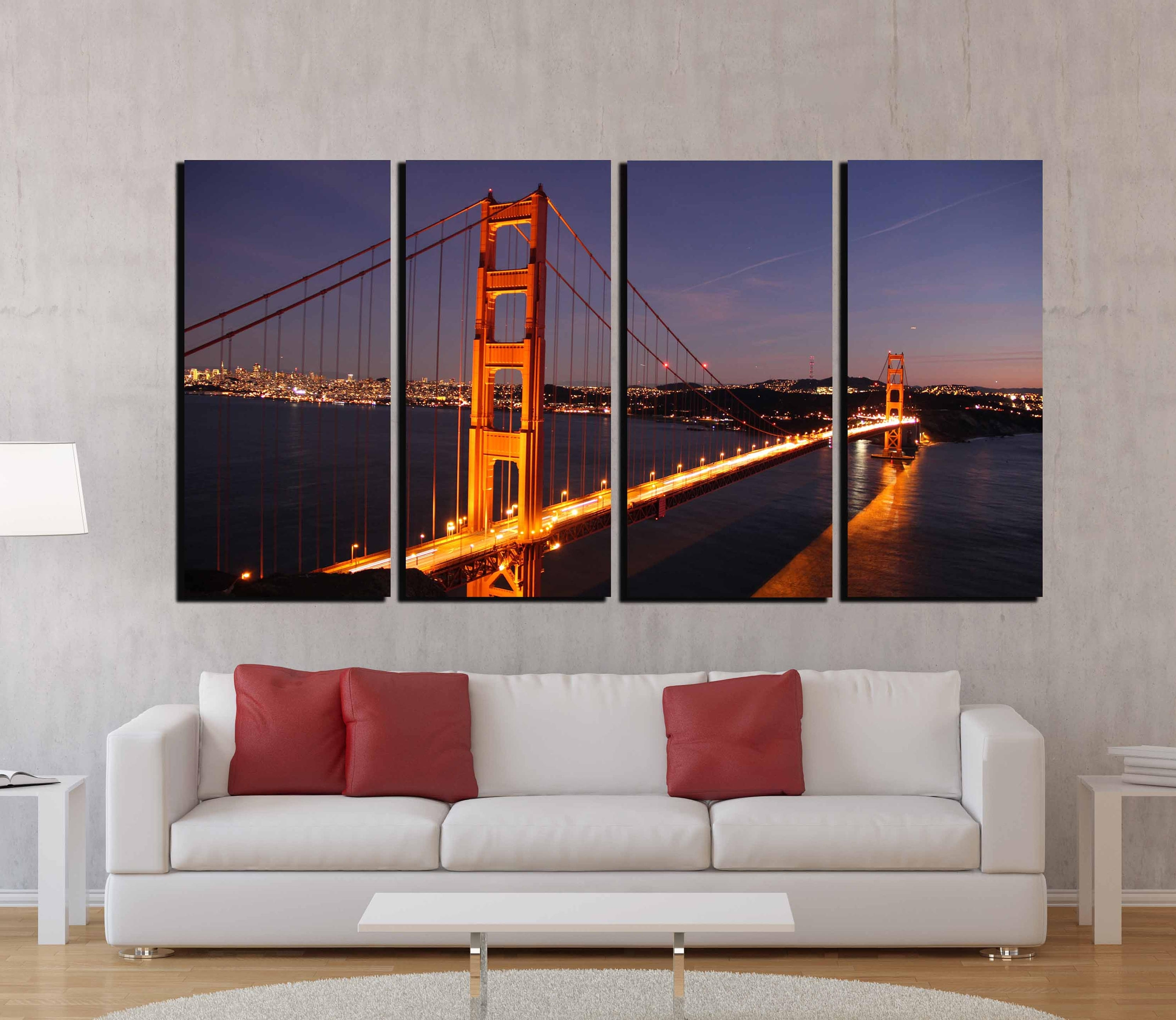 Golden Gate Bridge,golden Gate Wall Art,san Francisco Wall Art Pertaining To Most Current Golden Gate Bridge Canvas Wall Art (View 7 of 15)