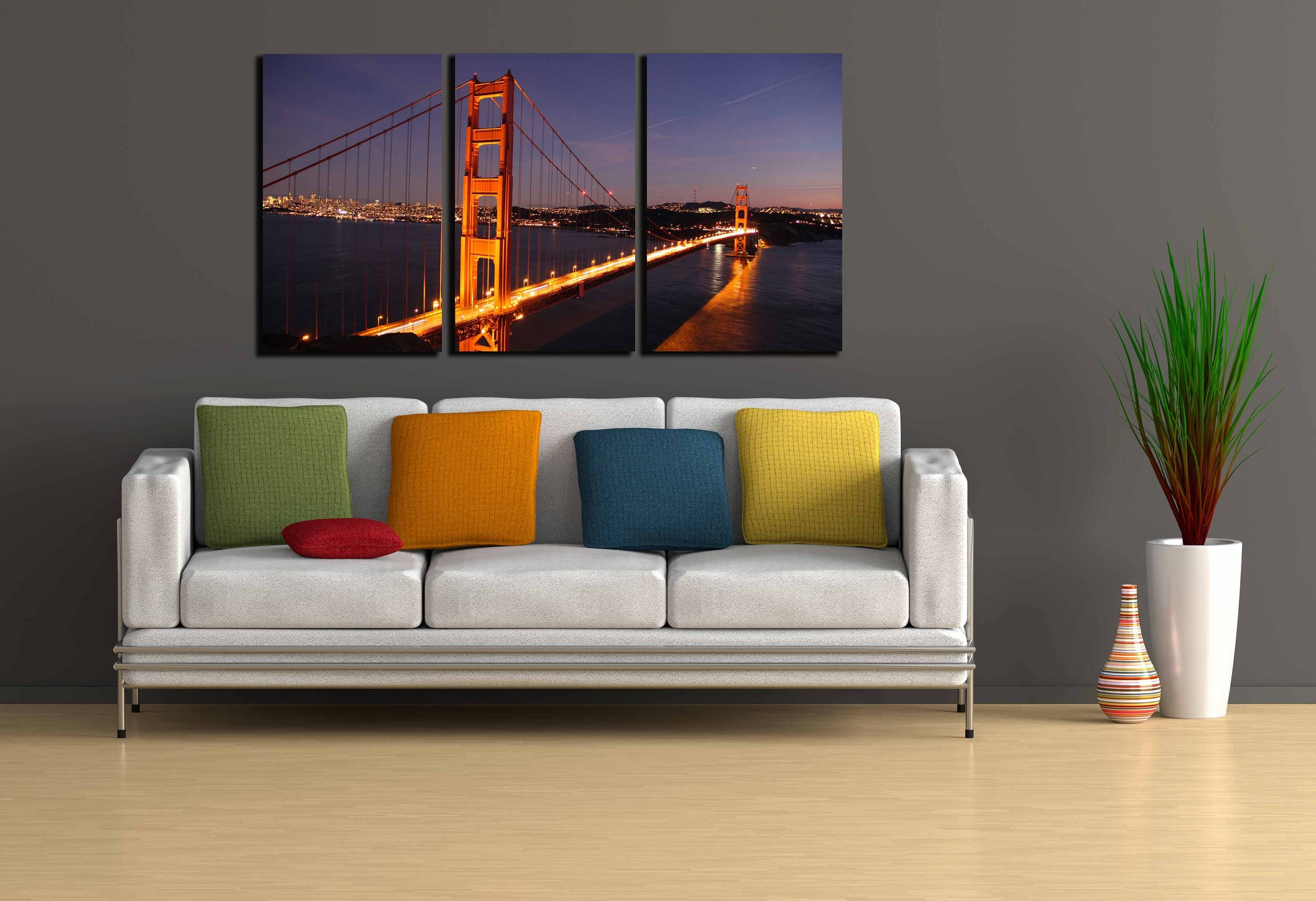 Golden Gate Bridge,golden Gate Wall Art,san Francisco Wall Art Throughout Current Golden Gate Bridge Canvas Wall Art (View 14 of 15)