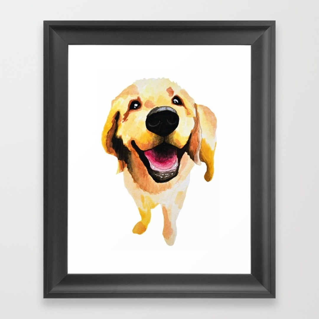 Goldenretriever Framed Art Prints | Society6 Intended For Best And Newest Dog Art Framed Prints (View 10 of 15)