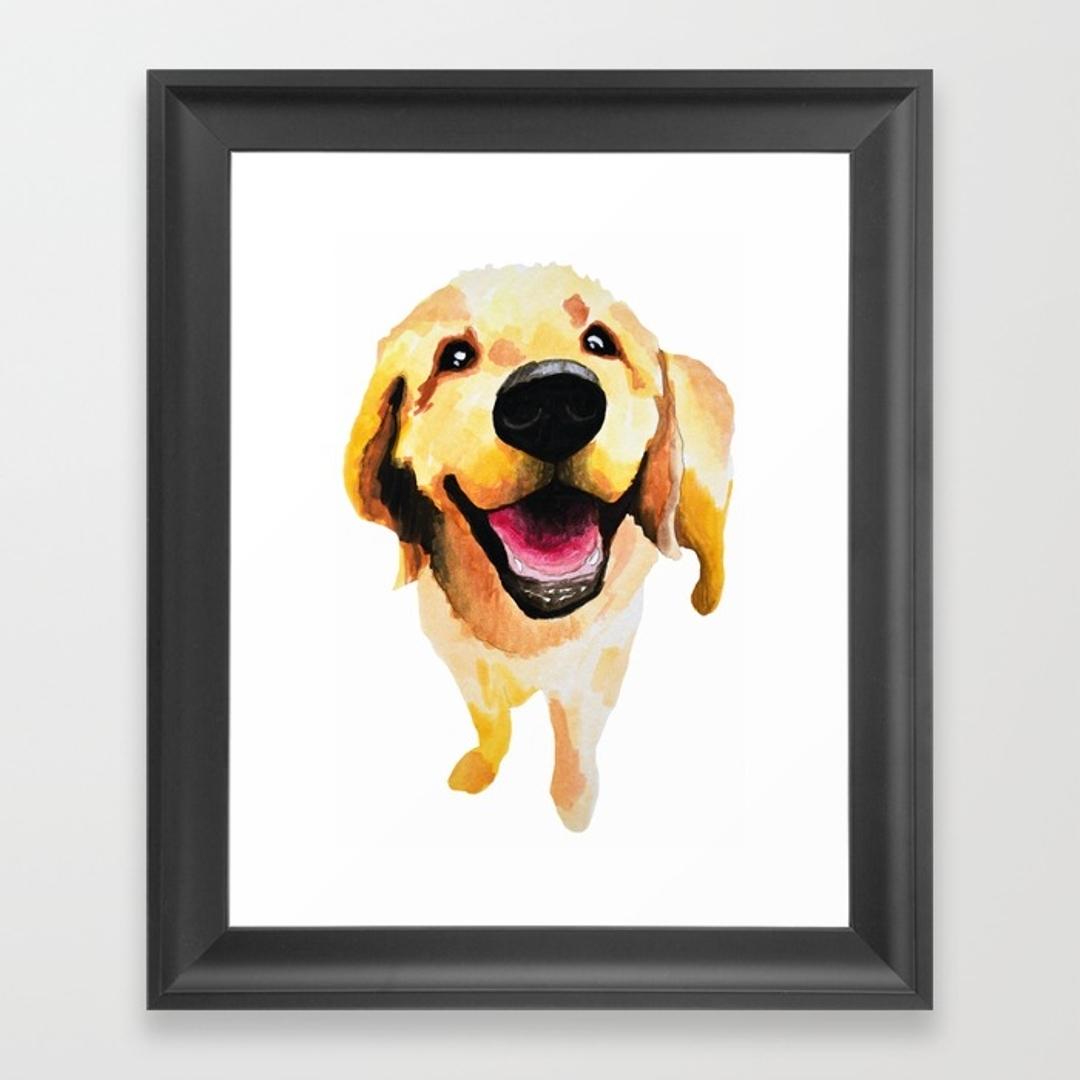 Goldenretriever Framed Art Prints | Society6 Intended For Best And Newest Dog Art Framed Prints (Gallery 5 of 15)