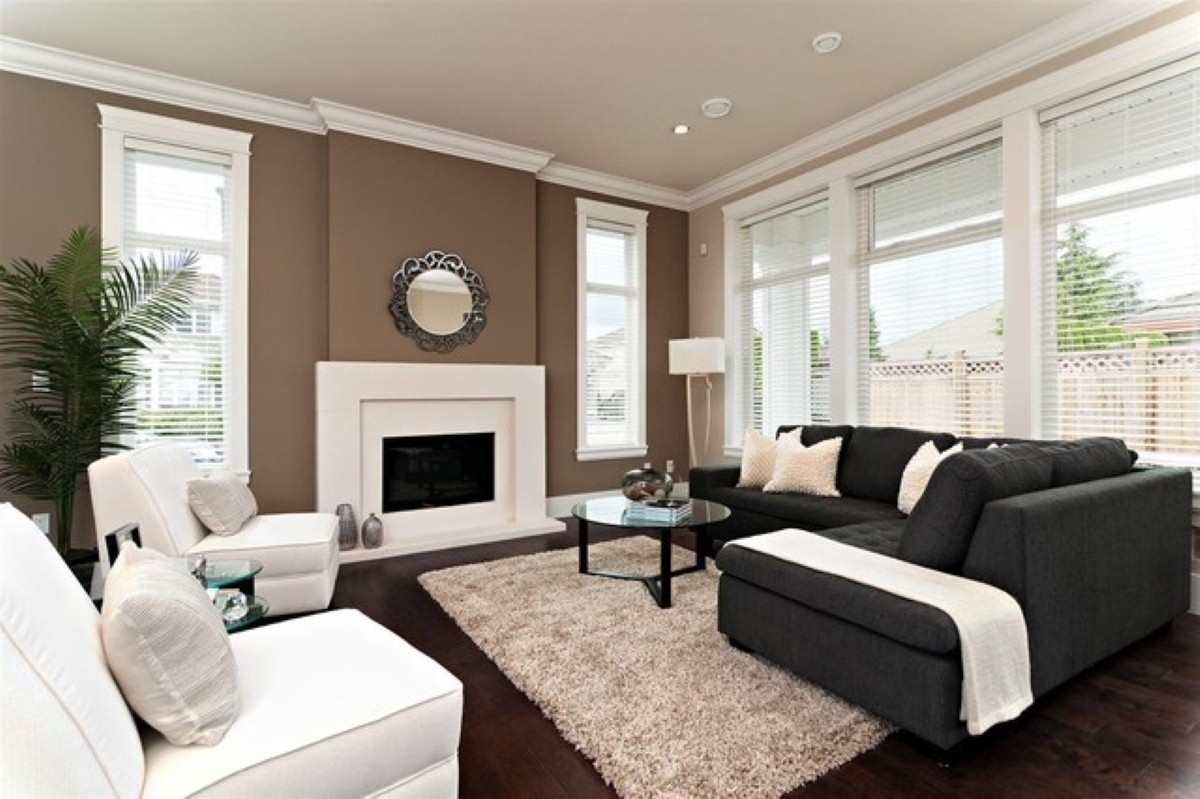 Good Accent Wall Colors For Small Living Room With Fireplace And L With Most Recent Wall Accents For L Shaped Room (Gallery 4 of 15)