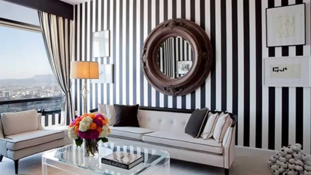Gorgeous Living Rooms With Striped Accent Walls – Youtube Regarding 2018 Stripe Wall Accents (View 7 of 15)