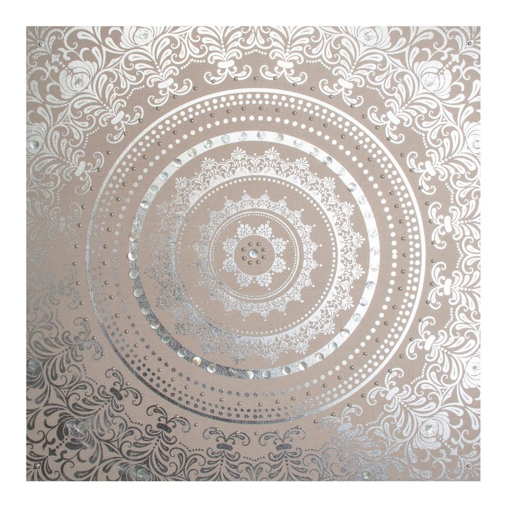 "Graham & Brown 31 In. X 31 In. ""cocoon Embellished Fabric"" Printed Inside Most Current Fabric Circle Wall Art (Gallery 8 of 15)"