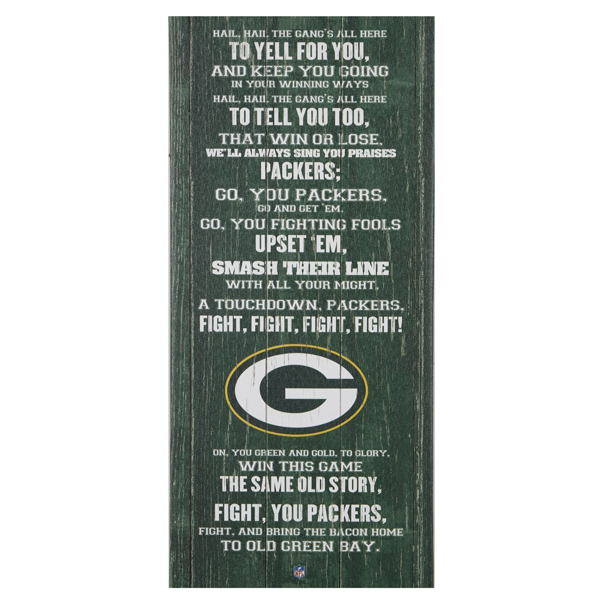 """Green Bay Packers Fight Song Wall Decor, 26"""" X 12"""" – Gordmans Pertaining To Latest Gordmans Canvas Wall Art (View 10 of 15)"""