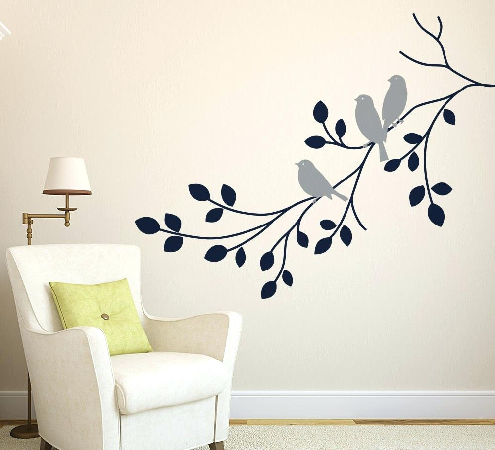 Grey Tree Wall Decal – Gutesleben In Latest Fabric Tree Wall Art (View 10 of 15)