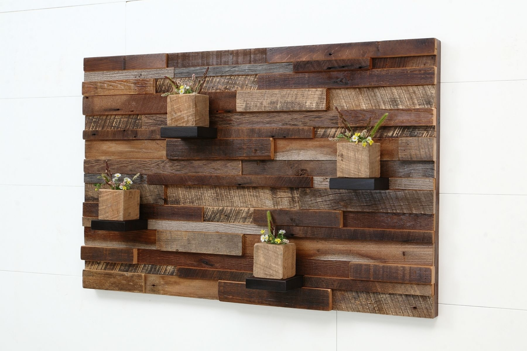Hand Crafted Reclaimed Wood Wall Art Made Of Old Barnwood. In Most Current Reclaimed Wood Wall Accents (Gallery 1 of 15)