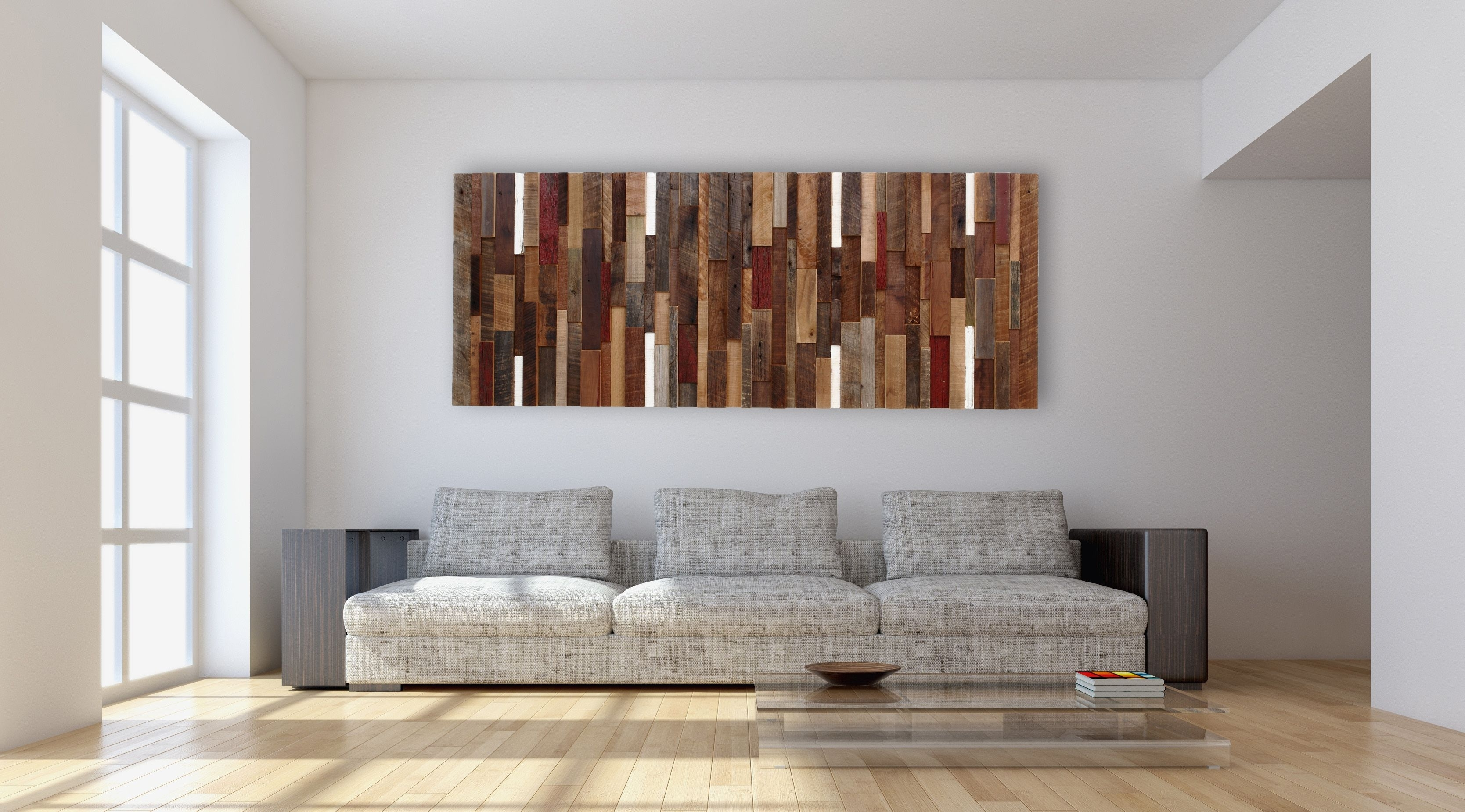 Hand Made Reclaimed Wood Wall Art, Made Intirely Of Reclaimed Barn Intended For Most Current Reclaimed Wood Wall Accents (Gallery 8 of 15)