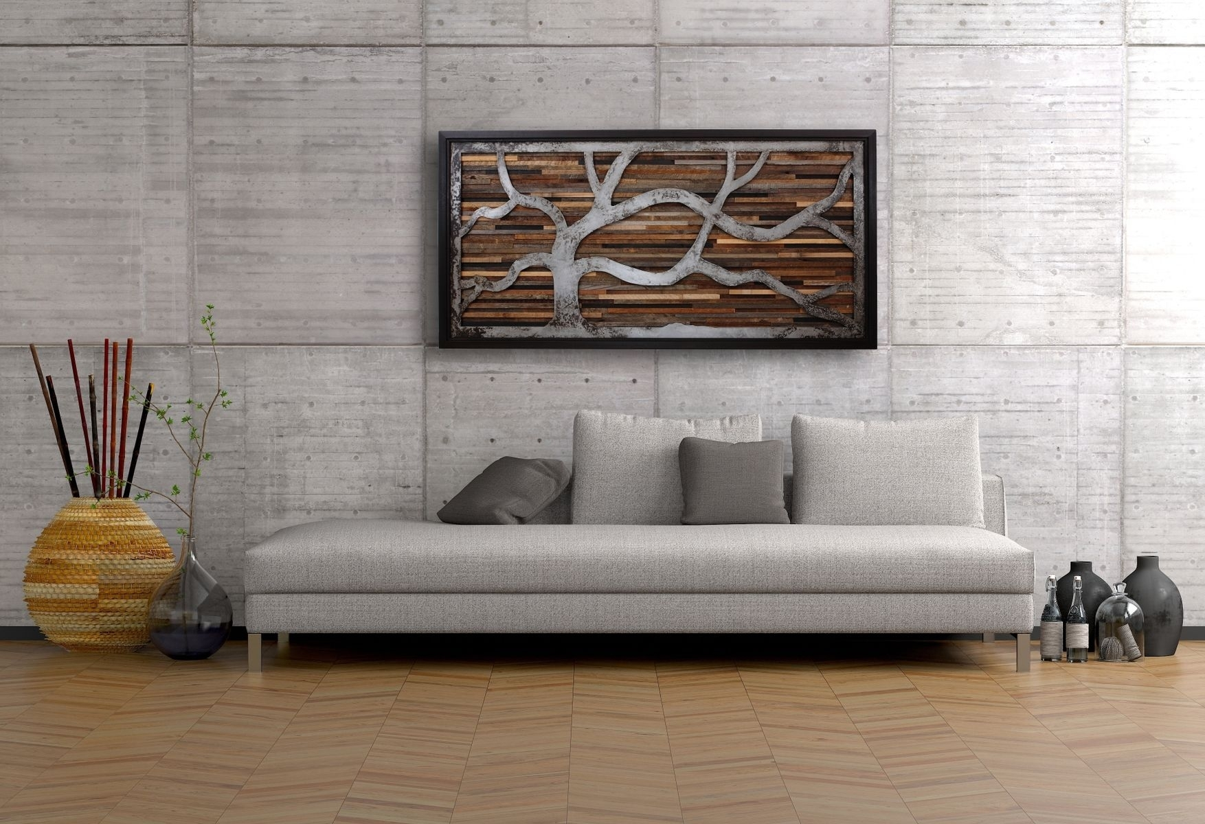 Handmade Reclaimed Wood Wall Art Made Of Old Barnwood And Rustic With Best And Newest Reclaimed Wood Wall Accents (View 6 of 15)