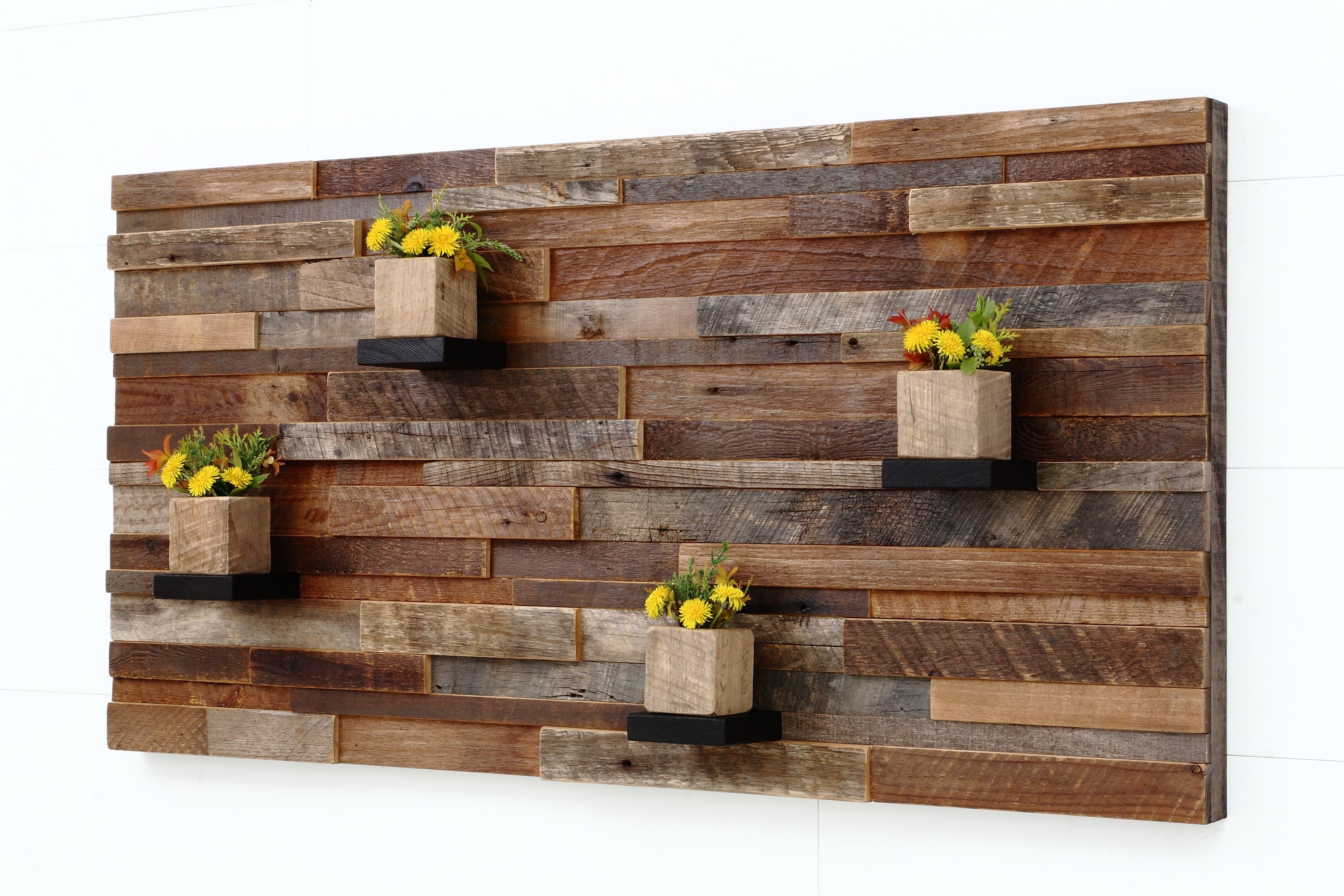 Handmade Wood Wall Art With Wood Shelves 48carpentercraig Regarding Most Recent Wooden Wall Accents (View 1 of 15)