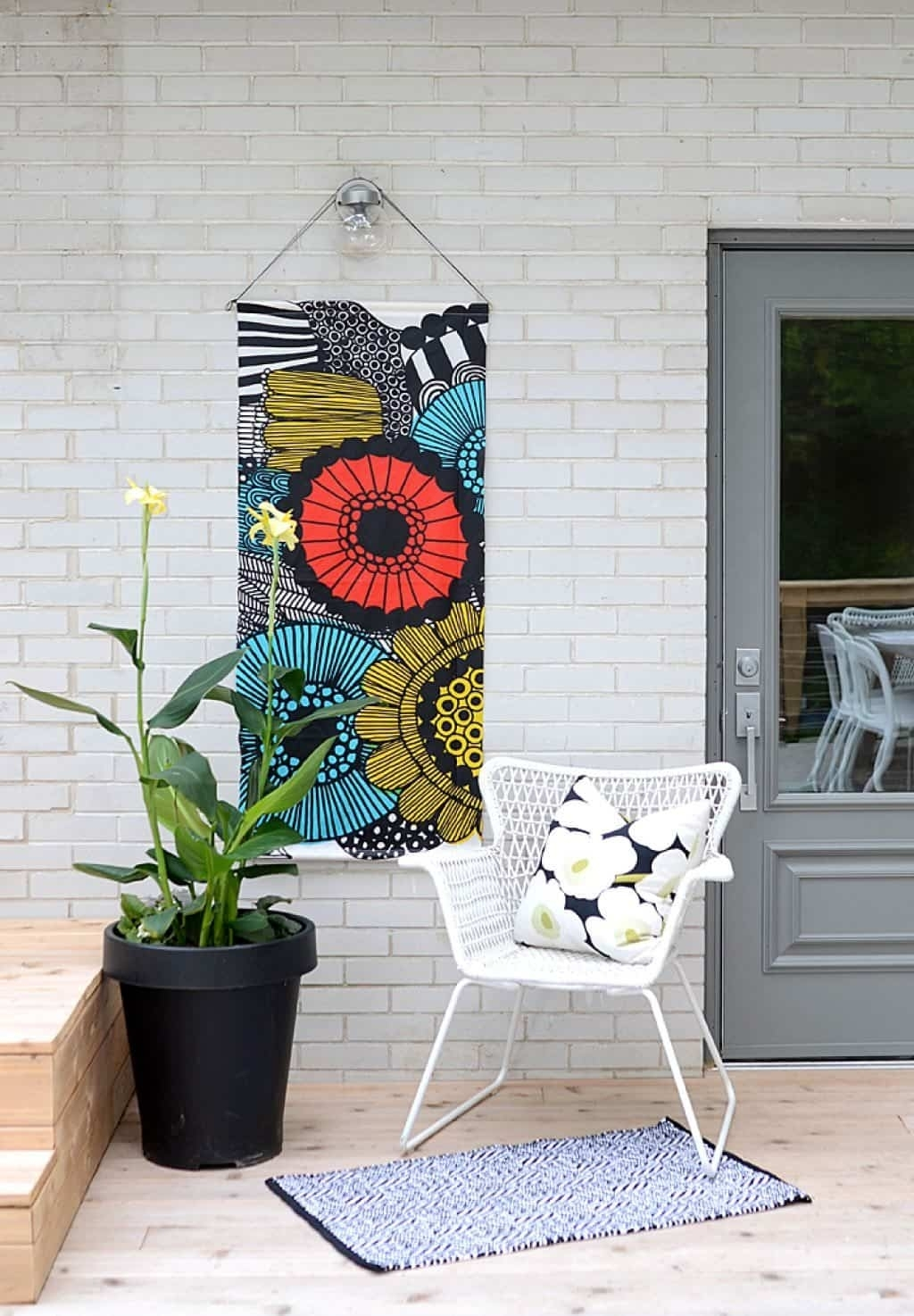 Hanging Fabric Abstract Wall Art – Decorative Outdoor Wall Art For In 2017 Outdoor Fabric Wall Art (View 15 of 15)