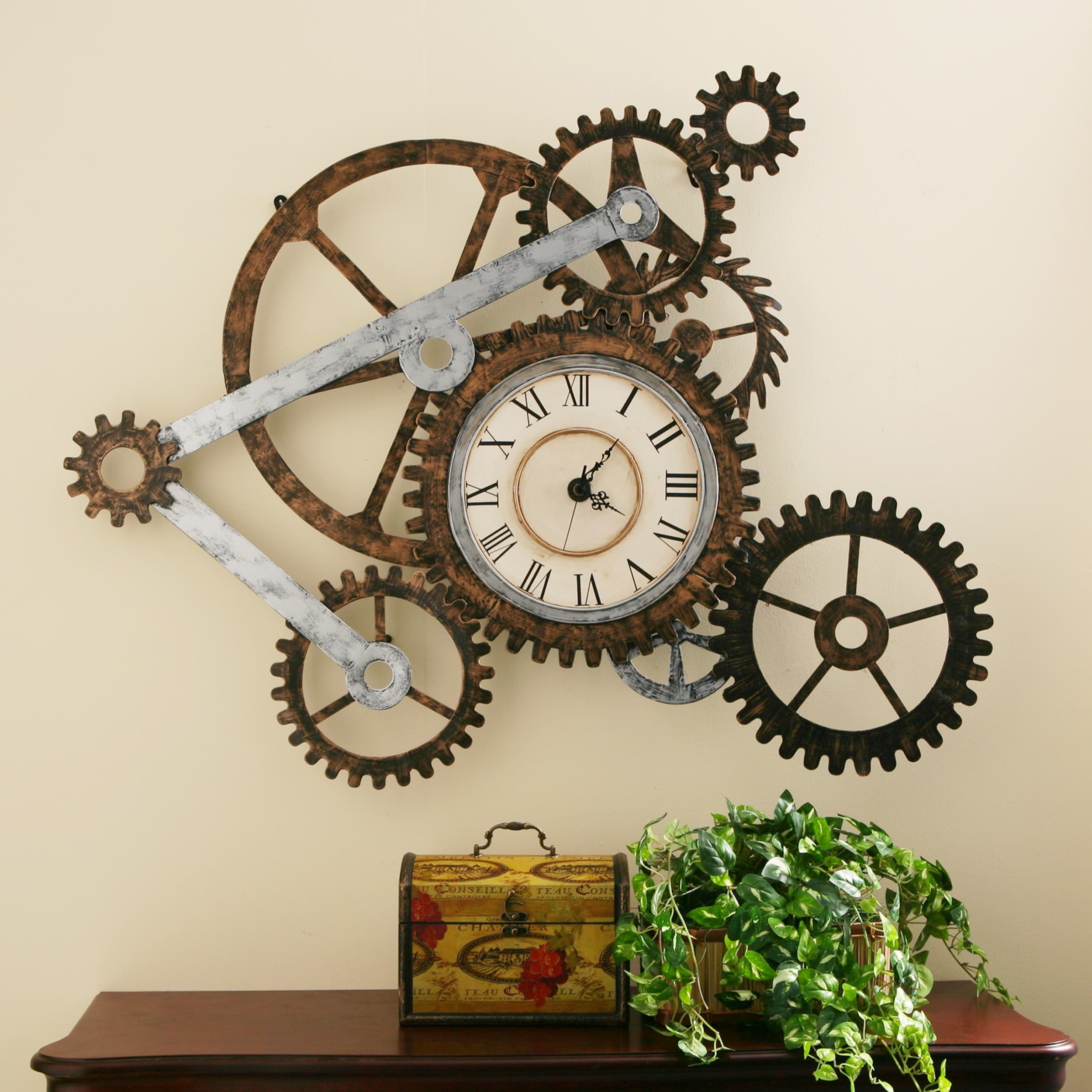 Harper Blvd Clock And Gears Wall Art – Free Shipping On Orders Throughout Most Recent Clock Wall Accents (Gallery 1 of 15)