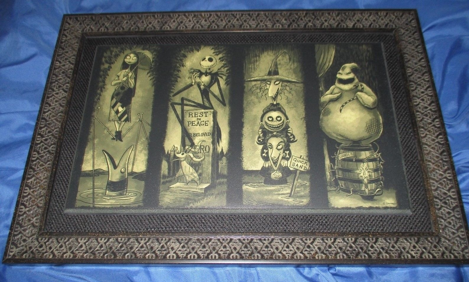 Haunted Mansion Framed Art Print ~nightmare Before Christmas Throughout Most Popular Christmas Framed Art Prints (View 2 of 15)