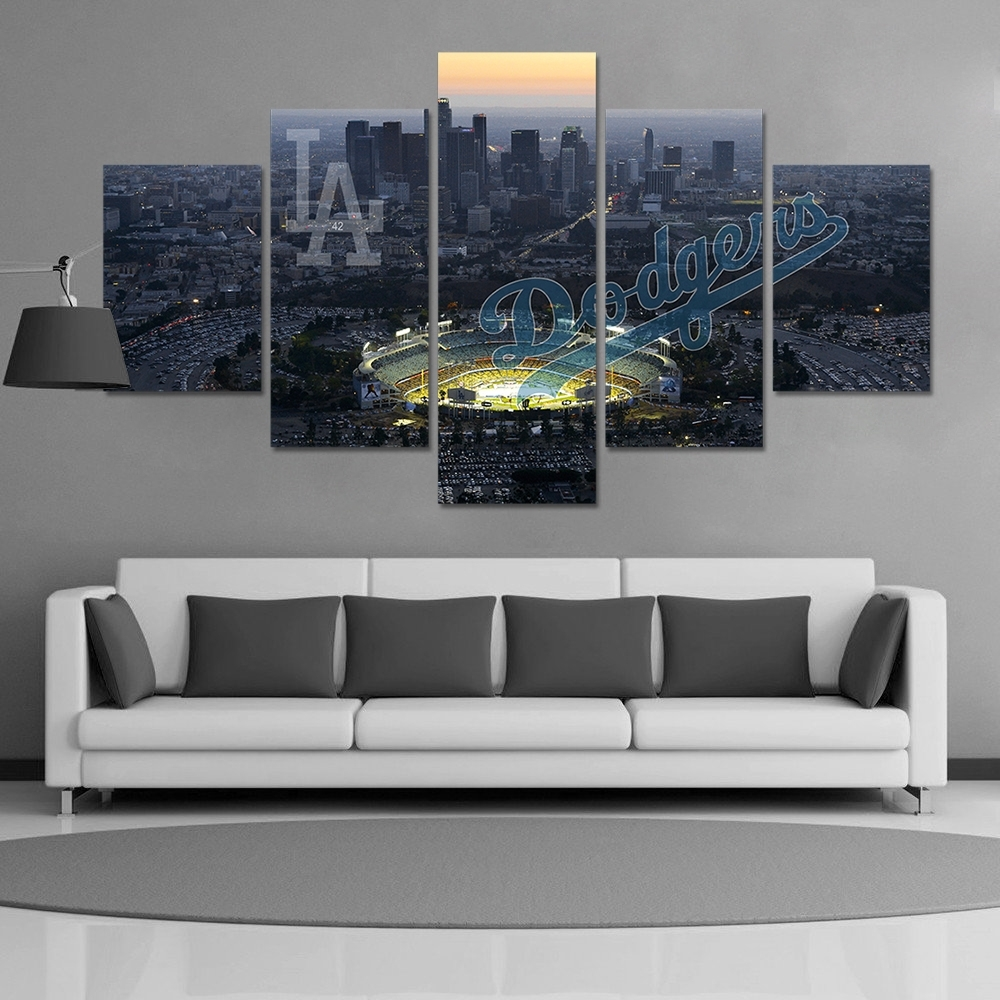 Hd Print Baseball Los Angeles Dodgers Fans Painting On Canvas Wall Throughout Recent Los Angeles Canvas Wall Art (View 7 of 15)