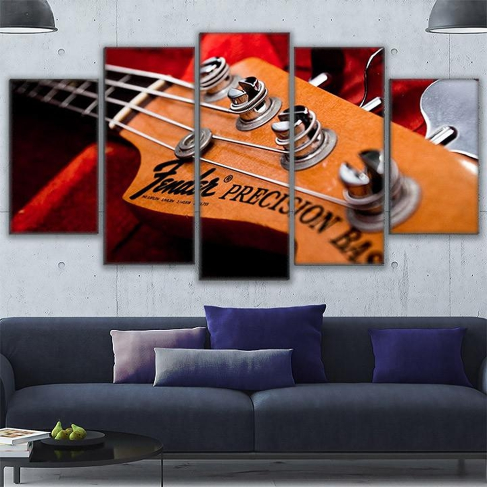 Hd Printed Modular Canvas Paintings For Living Room Wall Art 5 Pertaining To Newest Bass Framed Art Prints (View 14 of 15)