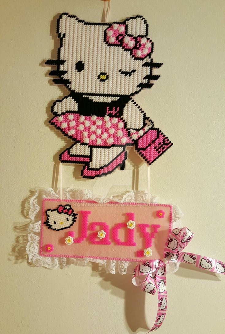 Hello Kitty Plastic Canvas Wall Hangsanzosgal On Deviantart Inside 2017 Hello Kitty Canvas Wall Art (Gallery 4 of 15)