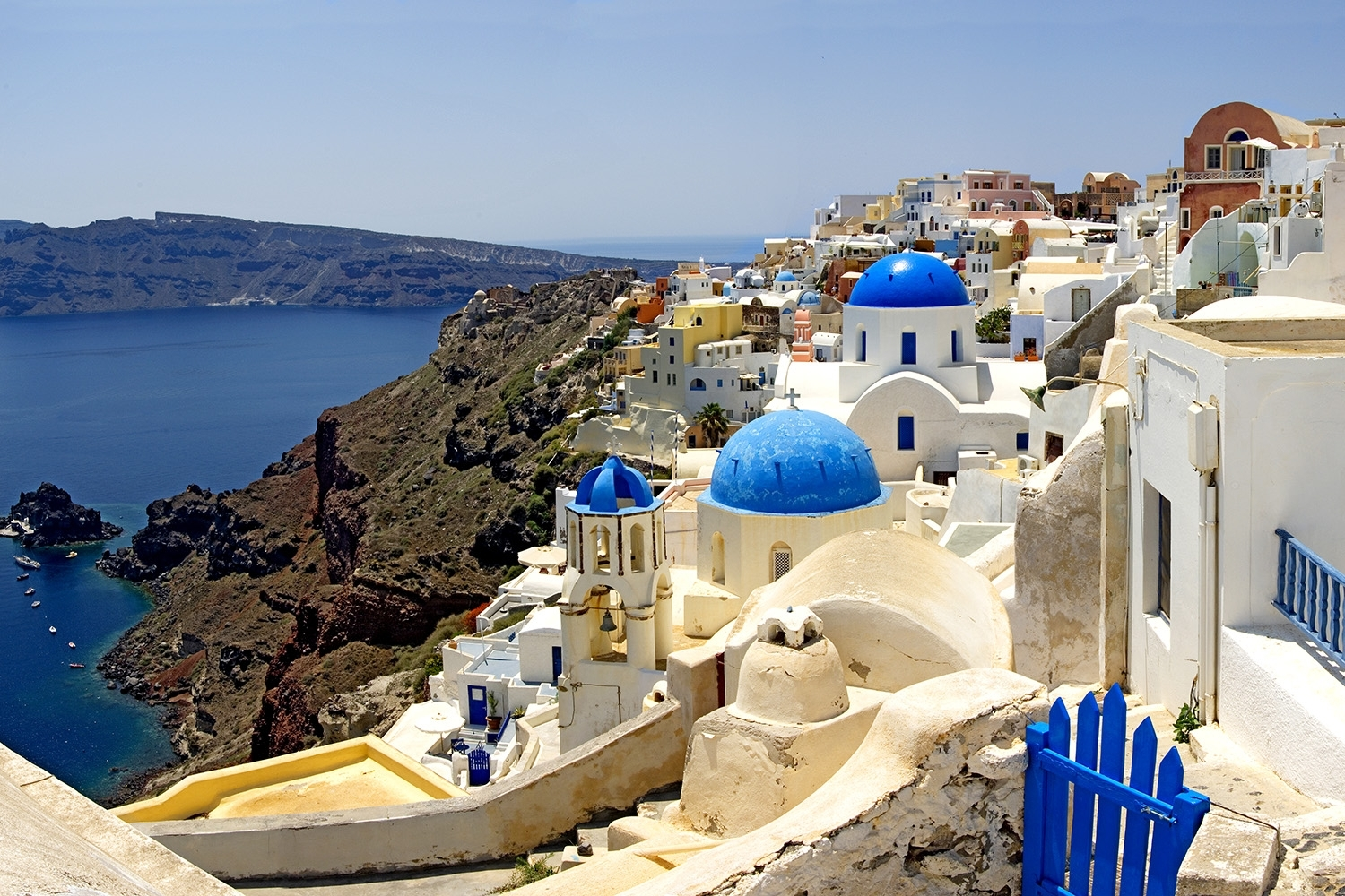 High Angle View Of A Church, Oia, Santorini, Cyclades Islands Regarding Current Greece Canvas Wall Art (View 9 of 15)