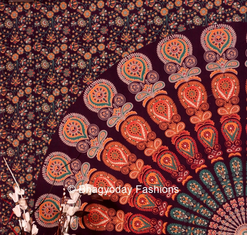 Hippie Hippy Indian Mandala Tapestry Indian Tapestry Dorm Wall With Regard To Most Recently Released Indian Fabric Wall Art (Gallery 14 of 15)