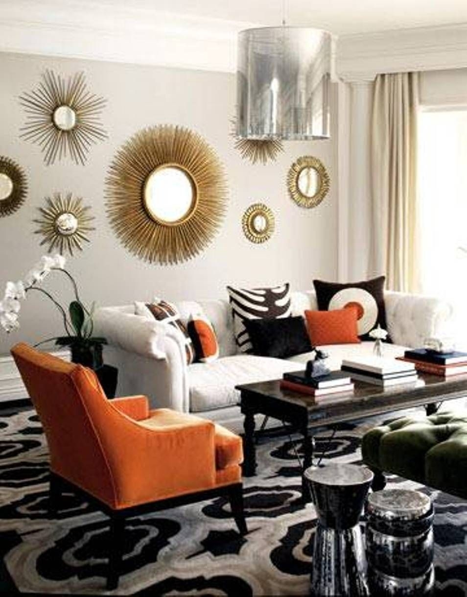 Home Design And Decor , Decorative Sunburst Mirror Wall Decor For Recent Mirrors Wall Accents (Gallery 3 of 15)