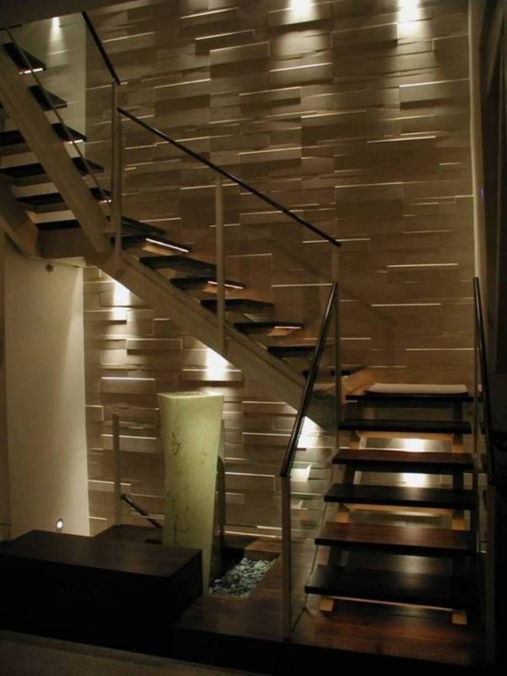 Home Design And Decor , Home Interior Wall Cladding Ideas Intended For 2018 Staircase Wall Accents (View 6 of 15)