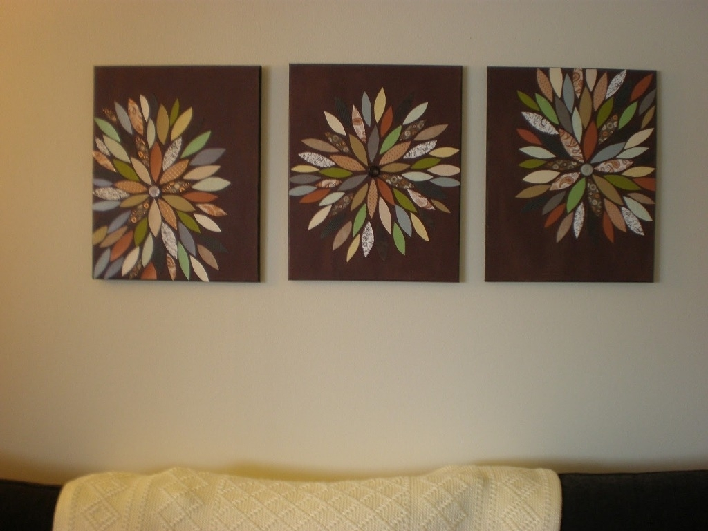 Homemade Canvas Wall Art Ideas • Wall Decorating Ideas Intended For Most Current Homemade Canvas Wall Art (View 11 of 15)