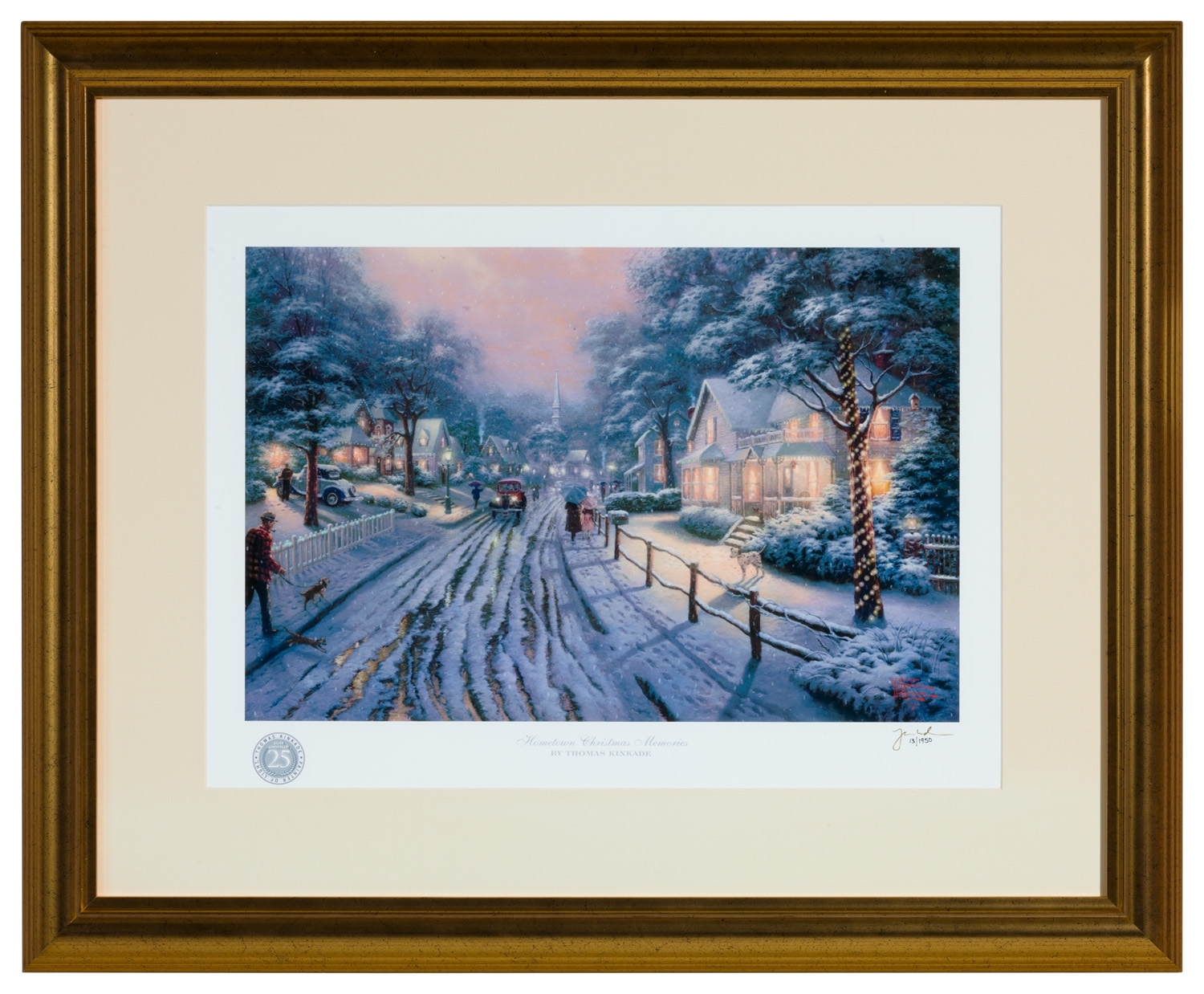 Hometown Christmas Memories – Framed Matted Print Signedthomas In Best And Newest Framed And Matted Art Prints (Gallery 7 of 15)