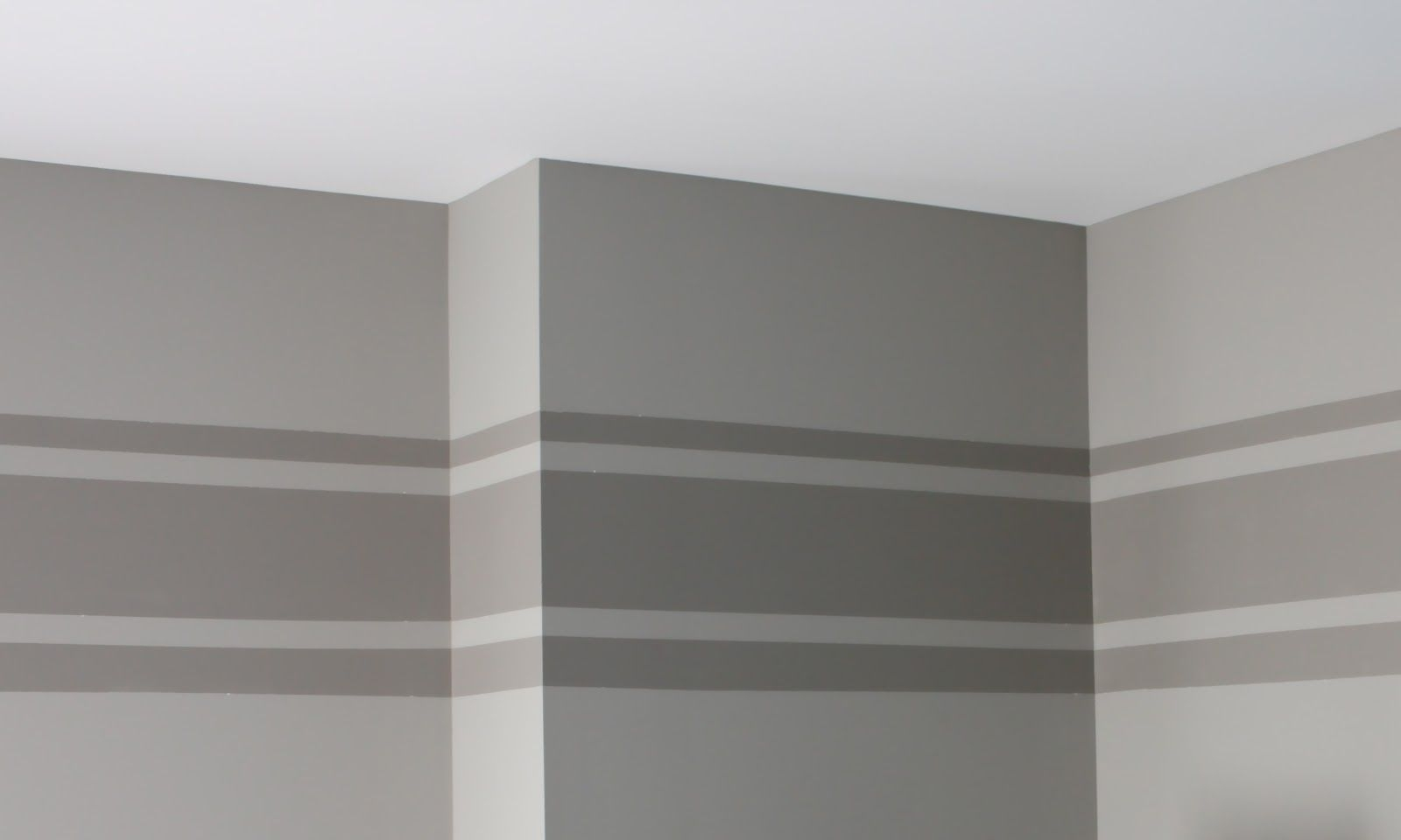 Horizontal Stripe On Wall | First, I Had The Room Painted With The For 2017 Horizontal Stripes Wall Accents (View 7 of 15)