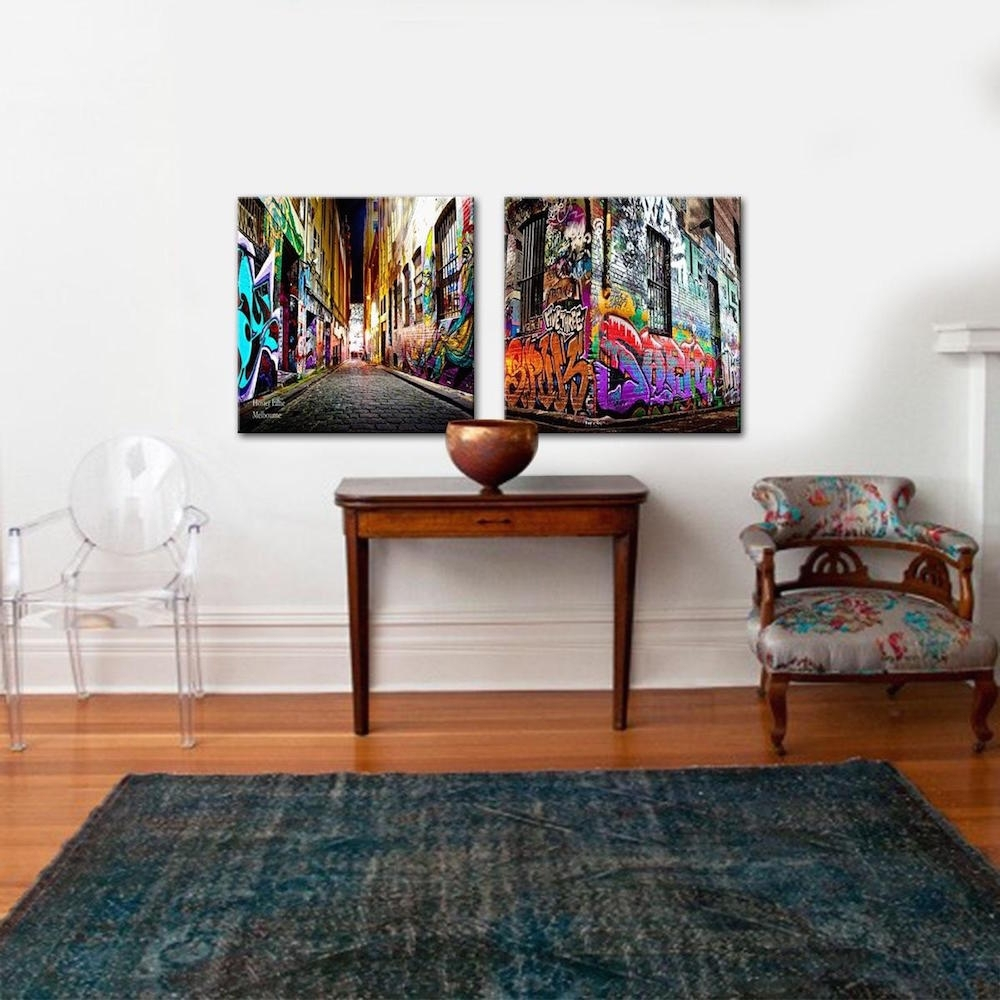 Hosier Lane – Hosier Perfect Pairs | Set Of 2 Canvas Prints | The Intended For Most Recently Released Canvas Wall Art Pairs (Gallery 6 of 15)