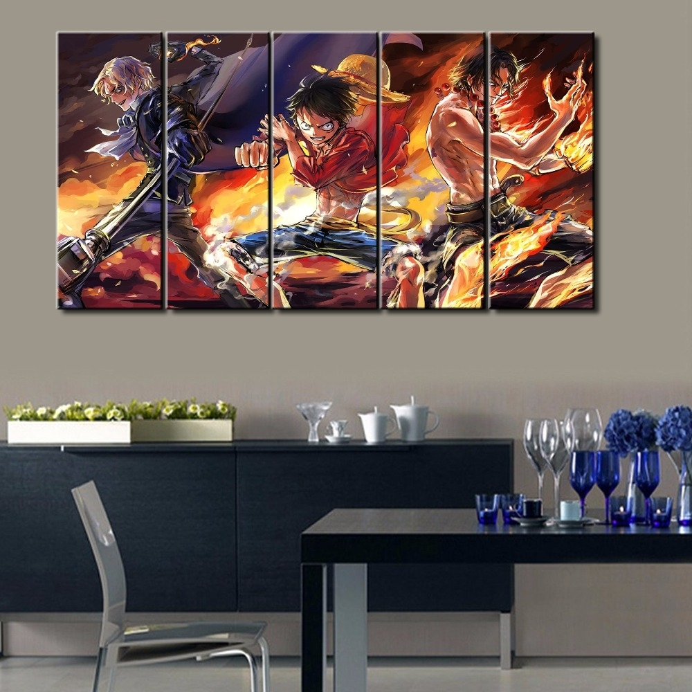 Hot Sel 5 Pcs Modern Decorative One Piece Cuadros Painting Canvas Intended For Most Recently Released Modern Canvas Wall Art (View 10 of 15)