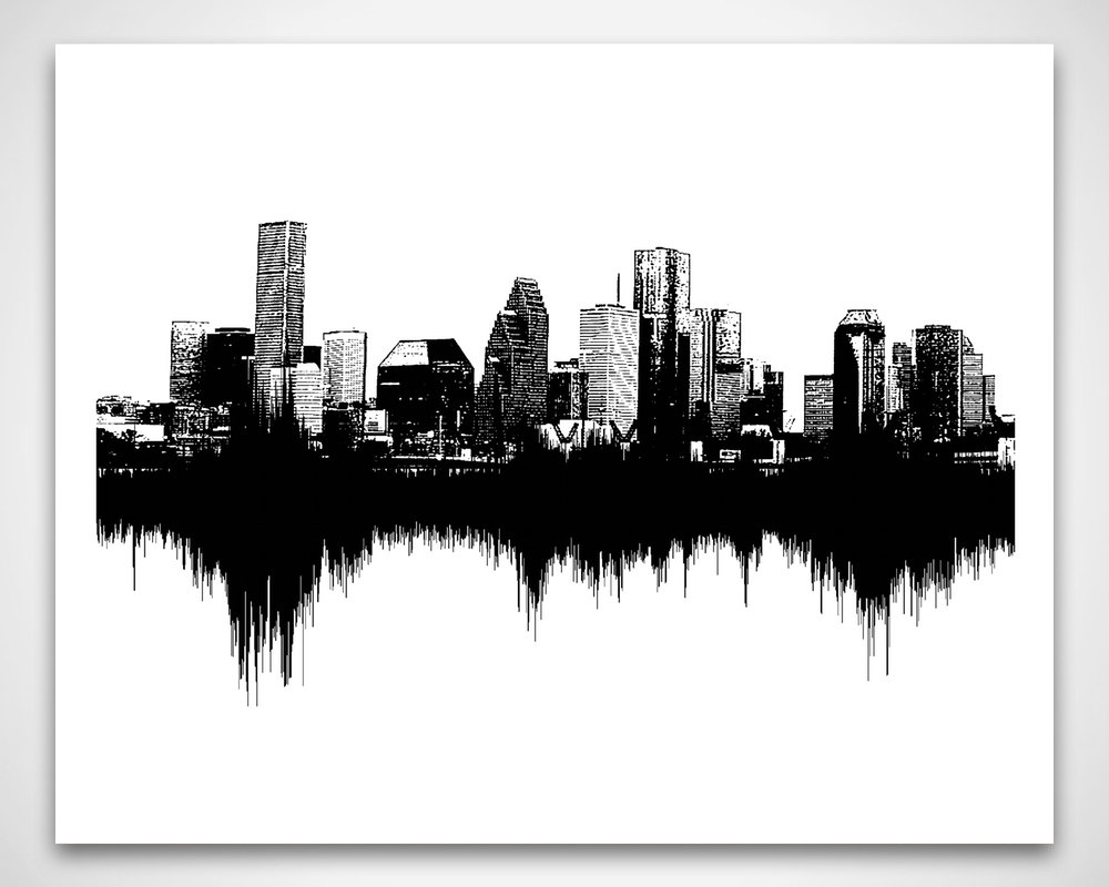Houston Skyline Art: Sounds Of The City / Soundvoiceandsound For Most Recently Released Houston Canvas Wall Art (Gallery 15 of 15)