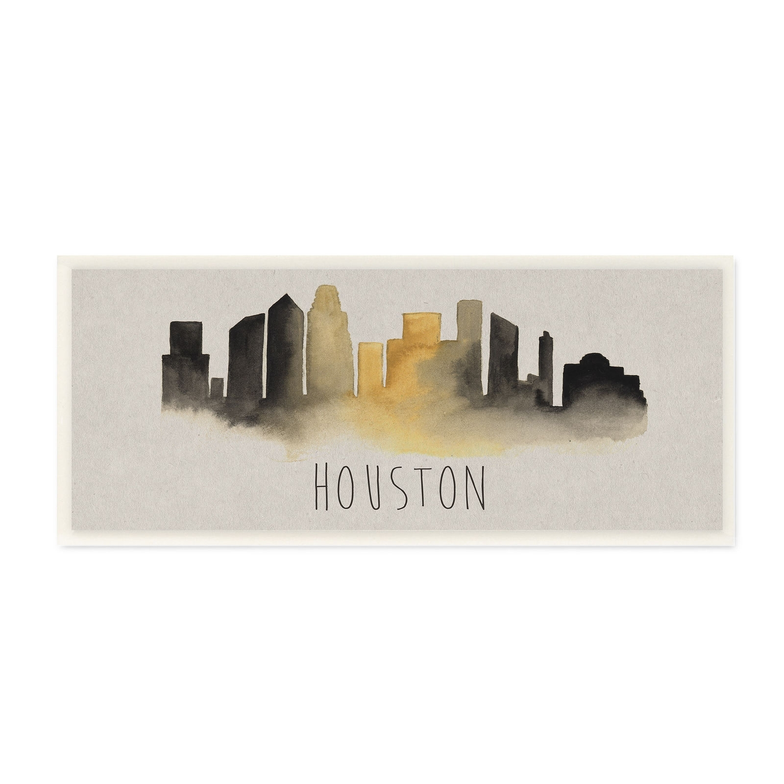 Houston Skyline Silhouette Stretched Canvas Wall Art Id 3455516 | Ebay For Current Houston Canvas Wall Art (View 12 of 15)