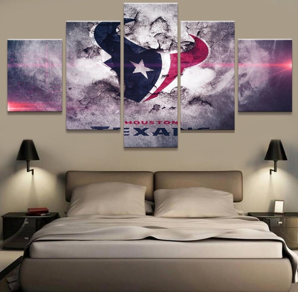 Houston Texans Poster Paintings On Canvas Wall Art – Best Funny With Regard To Newest Houston Canvas Wall Art (View 5 of 15)